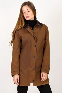 Barbour Brown New Market Waxed Jacket / Size: 8 UK - Fit: XS / S
