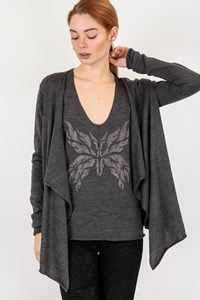 Zadig & Voltaire Grey Blouse and Cardigan Set / Size: M - Fit: S / M