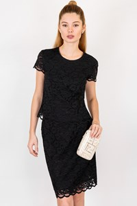 Blumarine Black Lace Top and Skirt Set / Fit: XSmall