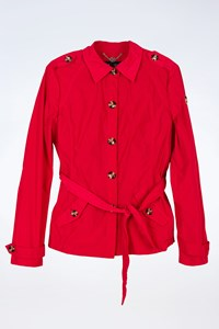 Armani jeans Red Short Waterproof Trench Coat / Size: 40 - Fit: XS