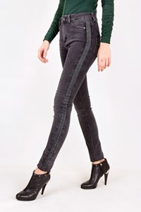Zadig & Voltaire Emma Bandes Grey Jeans / Size: 25 - Fit: XS