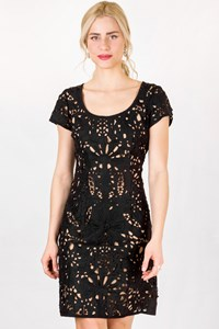 Collette Dinnigan Black Lace Dress / Size: L - Fit: M / L