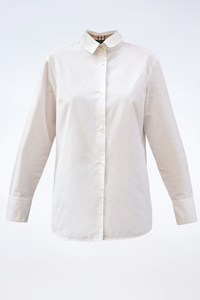 Burberry London White Cotton Shirt / Size: 16 GB - Fit: S / M