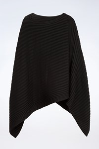 Joseph Black Wool Knitted Poncho / Size: ? - Fit: One size