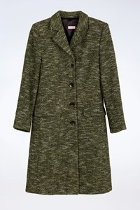 Max+Co Green Wool Tweed Coat / Size: 38 IT - Fit: ΧS