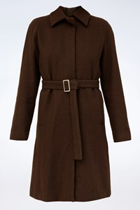 Max+Co Brown Wool Coat / Size: 38 IT - Fit: ΧS
