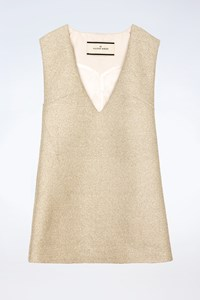 By Malene Birger Metallic Sleeveless Dress / Size: 36 - Fit: S / M