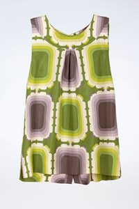 Orla Kiely Multicoloured Silk Blouse wth Buttons / Size: 3 - Fit: S