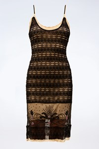 Alessandro Dell' Acqua Black Knitted Dress with Camisole / Size: 44 IT - Fit: XS