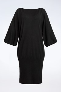 Juicy Couture Black Wool Dress with Elasticated Band / Size: M - Fit: S / M