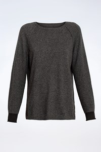 Zadig & Voltaire Grey Knitted Cashmere Jumper / Size: L - Fit: S / M