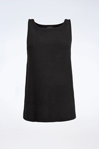 Donna Karan Black Cashmere Top / Size: L - Fit: S / M