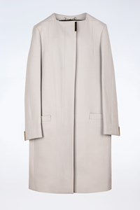 Gucci Off-White Concealed-Button Wool Coat / Size: 40 IT - Fit: S