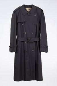 Burberry London Blue Midi Trench Coat  / Size: 48 - Fit: L