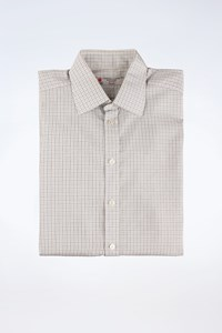 Turnbull & Asser White Cotton Check Printed Shirt / Size: 16-41 - Fit: M (Loose)