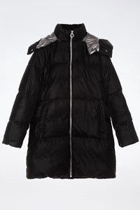 MICHAEL Michael Kors Black Quilted Velvet Jacket with Removable Hood / Size: L - Fit: M