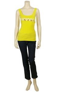 Dsquared Yellow Stamped Tank Top