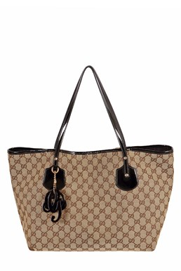 Jolie GG Canvas Tote Τσάντα με Charms